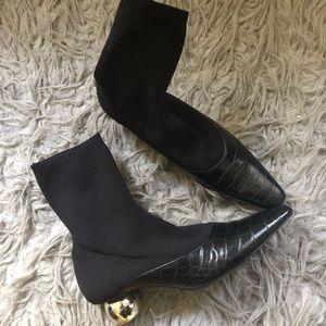 7.5 Zara Sock Booties